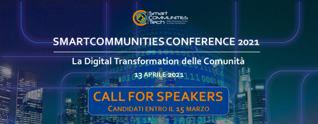 """Smart Community Conference: """"Digital Transformation delle Comunità"""". Come candidarsi"""